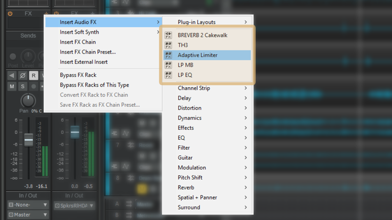 Recently Used Plug-ins