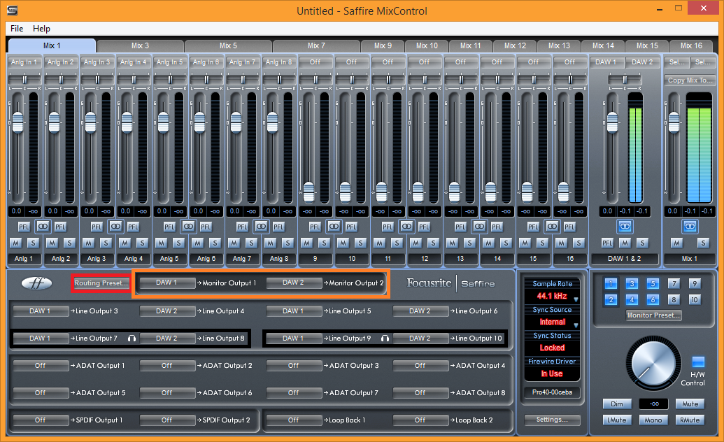 Cakewalk - Knowledge Base - Focusrite and PreSonus Interface Routing