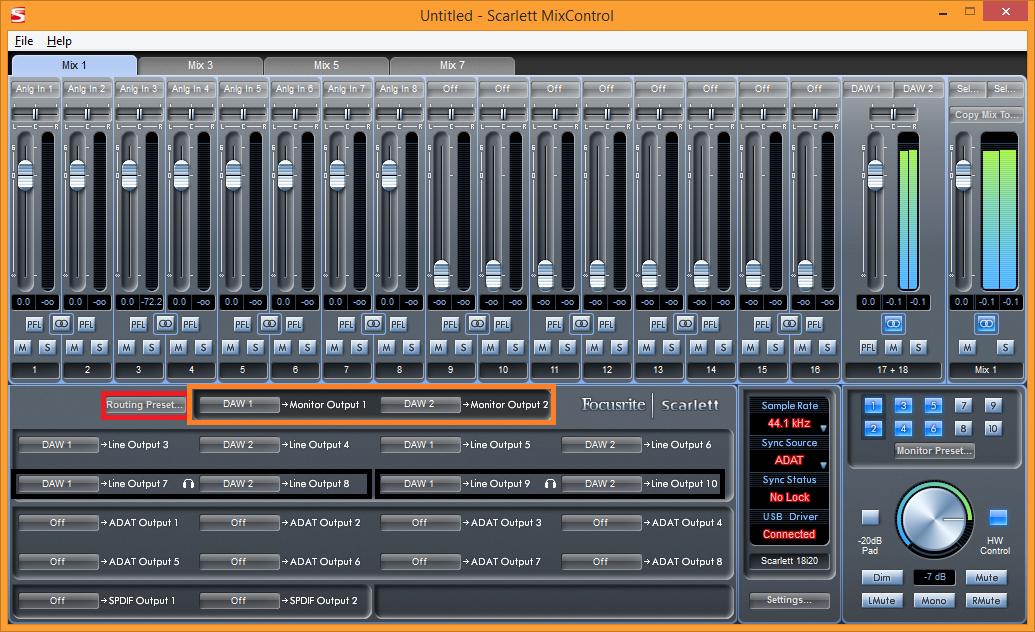 Scarlett Mix Control