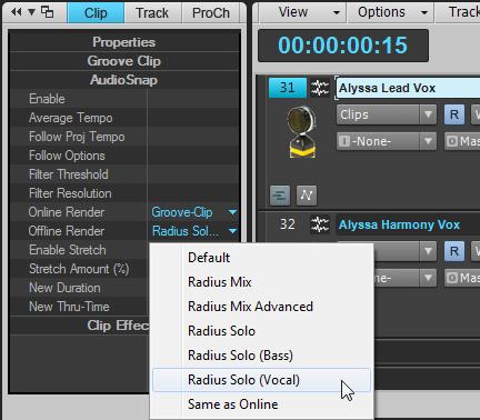 VocalSync Render Modes