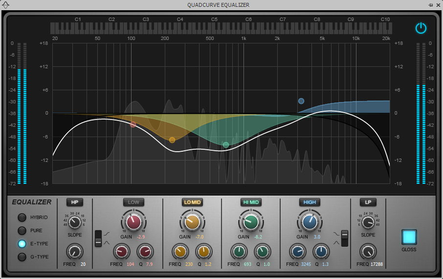 Rhythm Natural EQ setting for the J-200