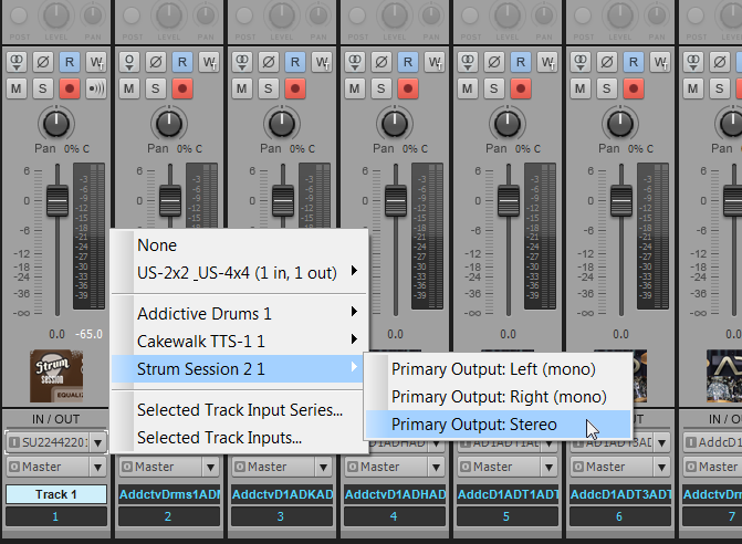 Selecting track I/O in the Console View
