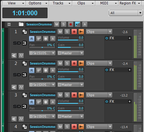 Waveform preview button