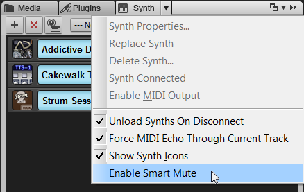 Enable Smart Mute option in the Browser