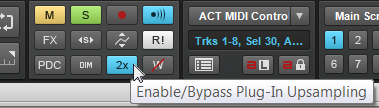 Global upsampling Control Bar toggle