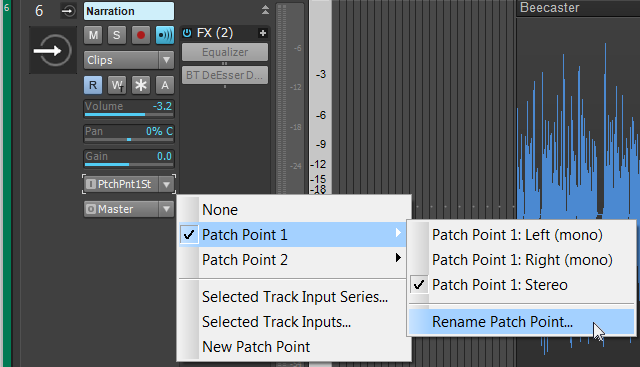 Renaming Patch Points