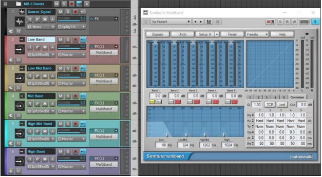 Multiband Processing Track Templates 1