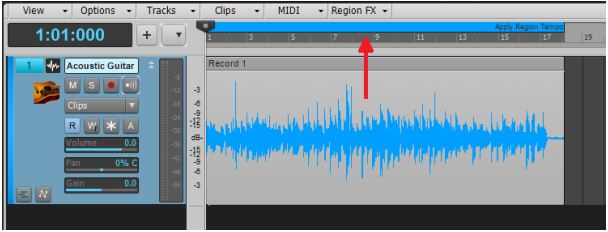 Melodyne Tempo Detection 1