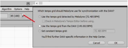Melodyne Tempo Detection 3