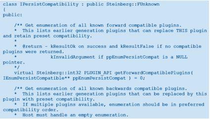VST Persist Compatibility